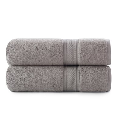 Luxury Rayon Bath Towel Set Color: Taupe Splash