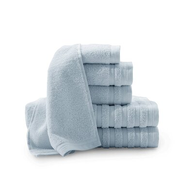 Pure Elegance Turkish 6 Piece Towel Set Color: Light Blue