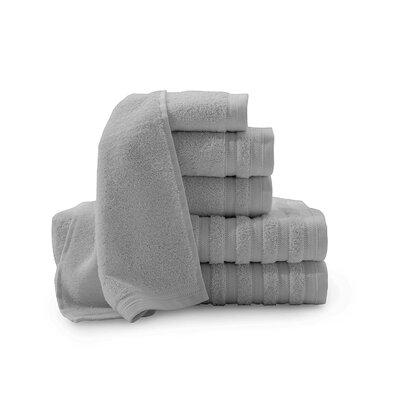 Pure Elegance Turkish 6 Piece Towel Set Color: Sterling