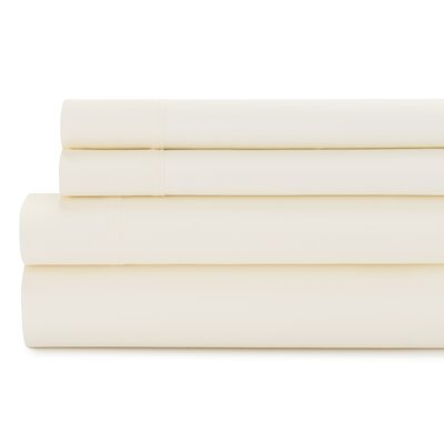 Tamarack 400 Thread Count Cotton Satin Sheet Set Size: Full, Color: Natural