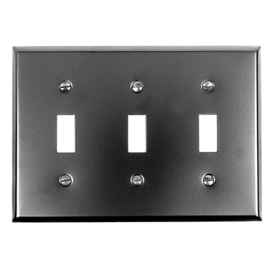 3 Toggle Switch Plate