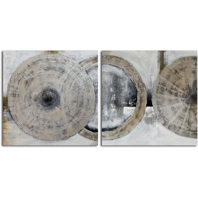 'Cymbals' 2 Piece Original Painting on Canvas Set A 0667