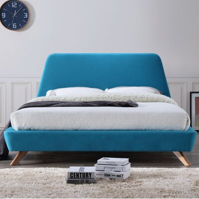 Henry Upholstered Platform Bed Color: Blue
