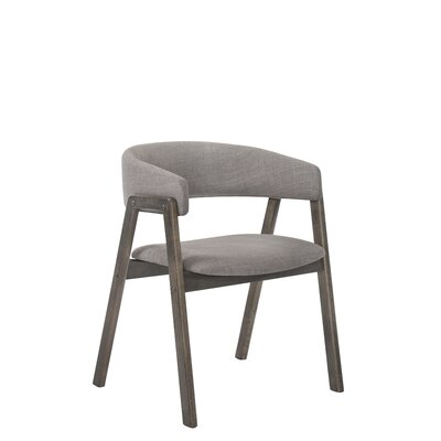 Paityn Wraparound Back Upholstered Dining Chair Upholstery Color: Sesame Gray