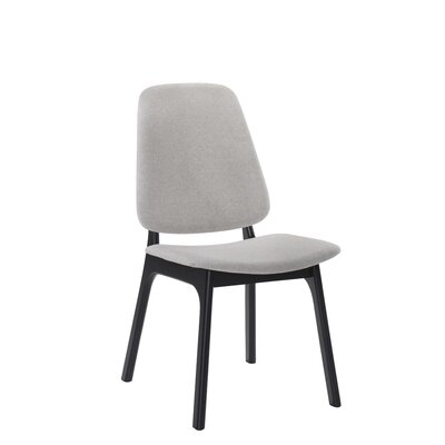 Paityn Modern Upholstered Dining Chair Frame Color: Black