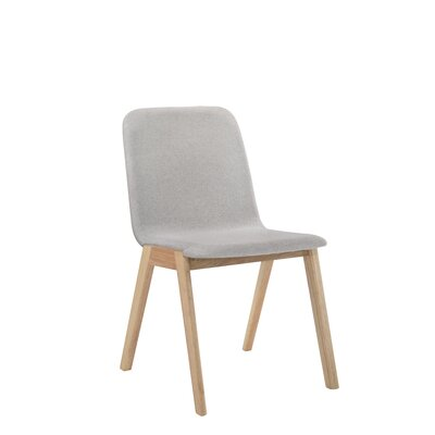 Paityn Contemporary Upholstered Dining Chair Frame Color: Natural