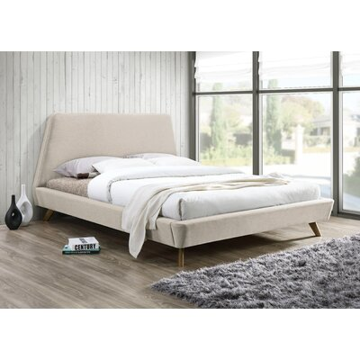 Henry Upholstered Platform Bed Color: Beige