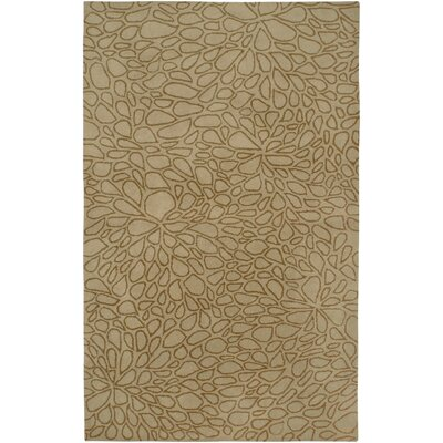 Anna Redmond Hand-Tifted wool Light Gold Area Rug Rug Size: Rectangle 9 x 12