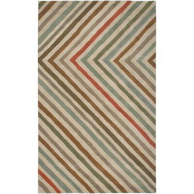 Anna Redmond Hand- Tuffed Wool Beige Area Rug Rug Size: Round 8