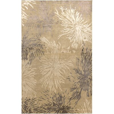 Avant Garde Hand-Knotted Wool Beige Area Rug Rug Size: Rectangle 2 x 3