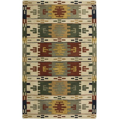 Southwest Hand-Tufted Wool Beige Area Rug Rug Size: 10 x 14