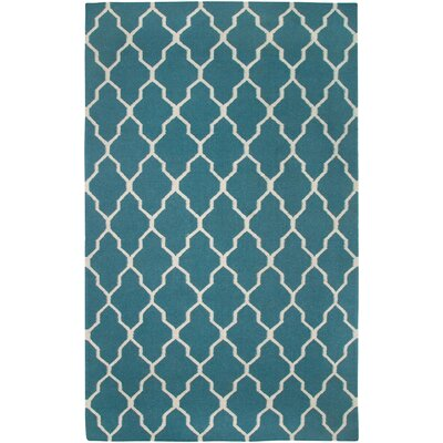 Swing Hand-Woven Wool Green Area Rug Rug Size: 2 x 3