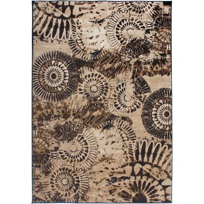Bellevue Beige Area Rug Rug Size: Rectangle 92 x 126