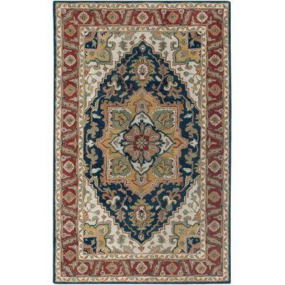 Camden Navy & Red Area Rug Rug Size: 9 x 12