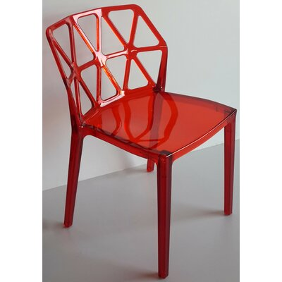 Wieland Zigzag Side Chair (Set of 2) Color: Red