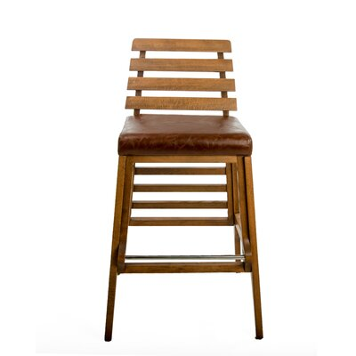 Faust 30 Bar Stool Finish: Brown