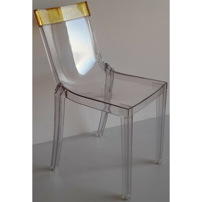 Wieczorek Solid Side Chair (Set of 2) Color: Yellow/Clear