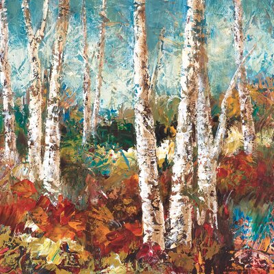 'Birch Sky II' Painting Print on Wrapped Canvas