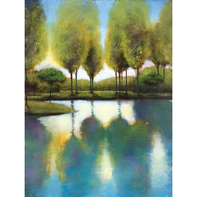 'Trees In Reflection' Painting Print on Wrapped Canvas