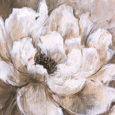 'Peonies Blanche II' Painting Print on Wrapped Canvas