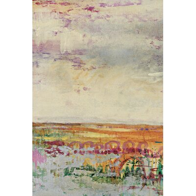 Wildflower Sunrise I Crop by Leila Painting Print on Wrapped Canvas NCB6589
