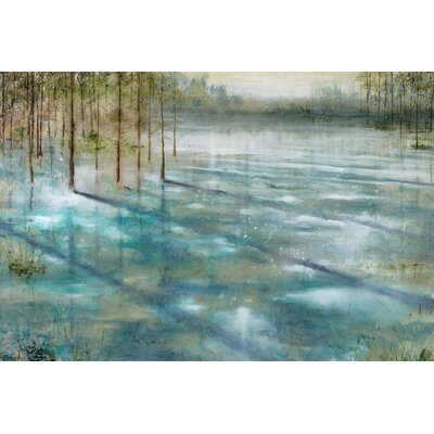'Water Trees' Painting Print on Wrapped Canvas