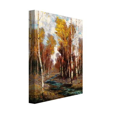 'Wooded Stream' Print on Wrapped Canvas Size: 30