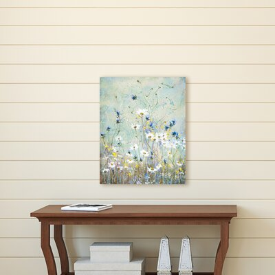 'Wildflowers Bright' Print on Wrapped Canvas Size: 16