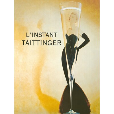 'L 'instant Taittinger' Graphic Art Print on Wrapped Canvas Size: 28