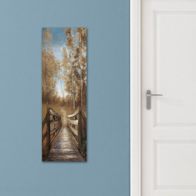 'Country Crossing Soft' Print on Wrapped Canvas Size: 36