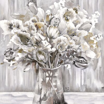 'Wildflower Study' Print on Wrapped Canvas Size: 24