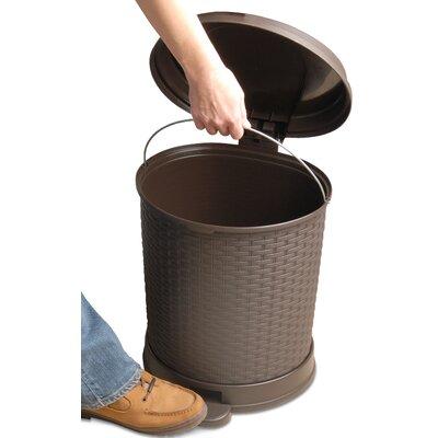 Plastic 5.5 Gallon Step On Trash Can 469