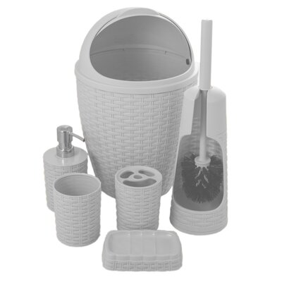 Brand Palm Luxe 6-Piece Bathroom Accessory Set 520