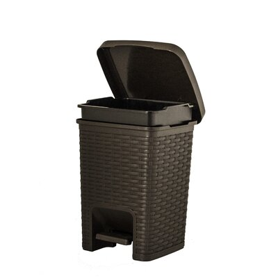 Plastic 1.88 Gallon Step On Trash Can 463