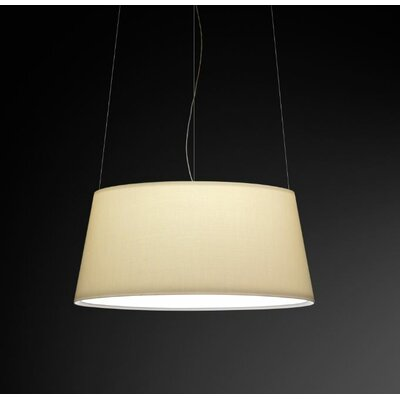 Warm Medium Pendant with Off White Shade Bulb Type: 4 x 18W Spiral GU 24 Compact Fluorescent
