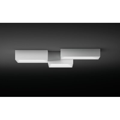 Link Ceiling Triple A Flush Mount Finish: White