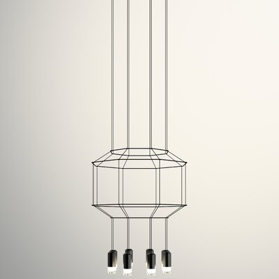 Wireflow 3D Octagon 8-Light Geometric Pendant