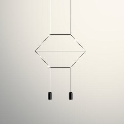 Wireflow 2D 2-Light Geometric Pendant