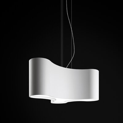 Ameba 3-Light Pendant Finish: White Lacquer