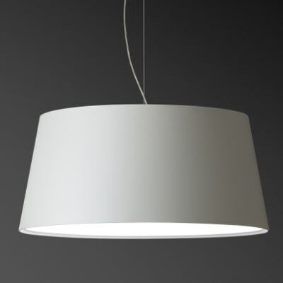 Warm Medium Pendant with Incandescent Bulb Shade Color: White