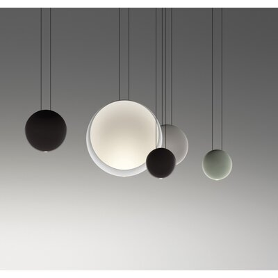 Satellite 1-Light Cluster Pendant Shade Color: Light Gray