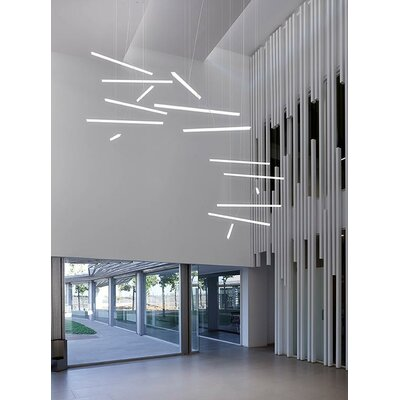 Halo Linear 6-Light LED Geometric Pendant
