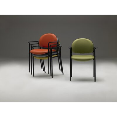 Stacking Guest Chair Seat Color: Moss
