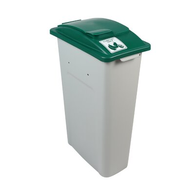 Waste Watcher® Compost Solid Lift Single 23 Gallon Recycling Bin Color: Gray/Green