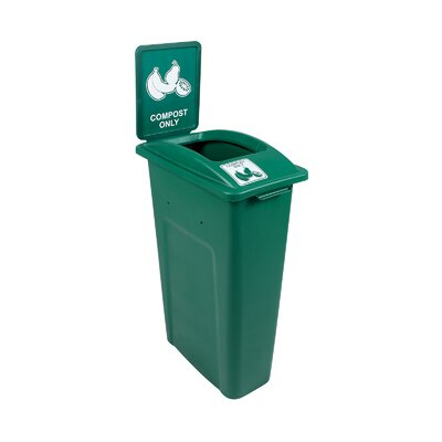 Waste Watcher® Compost Single 23 Gallon Recycling Bin