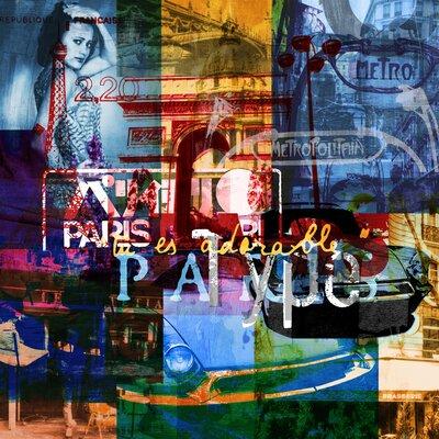 """Paris Vibes 2 Graphic Art on Wrapped Canvas Size: 35"""" H x 35"""" W x 1.3"""" D TAF-GICSVN039"""