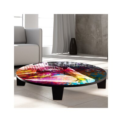 Butterfly Girl Coffee Table Size: 36 (Diameter)