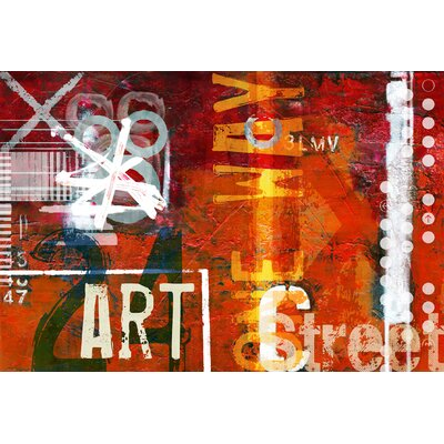 Art Street Red Area Rug Rug Size: 57 x 710