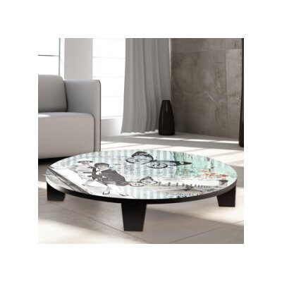 Flappers and Grace Table Art Size: 35 W x 35 D
