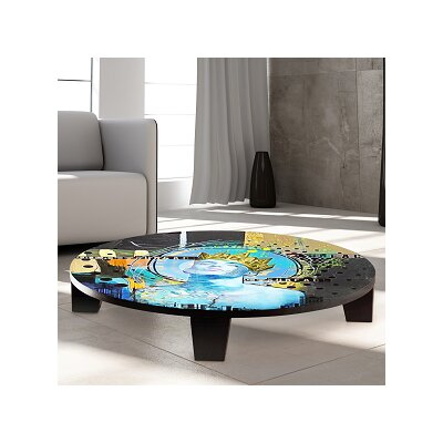 King of Swords Table Art Size: 44 W x 44 D